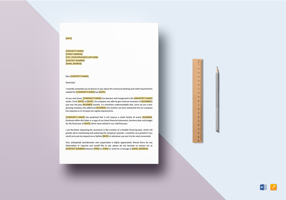 Request proposal for credit facility template in word google docs request proposal for credit facility template spiritdancerdesigns Images