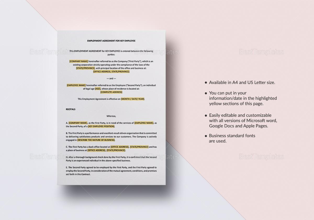 Employment Agreement Key Employee