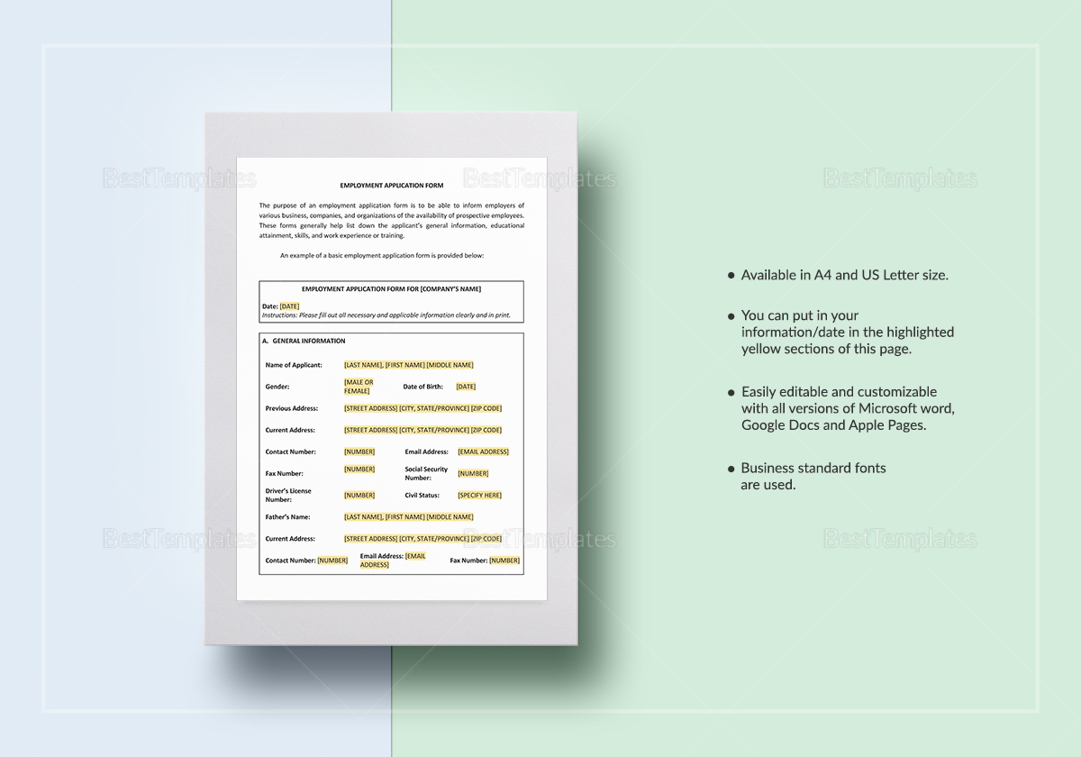 Employment Contract Worksheet