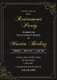 Black Gold Retirement Invitation Template
