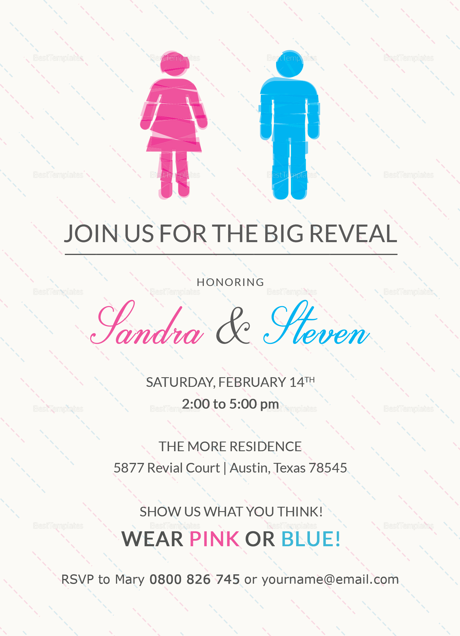 Gender Reveal Invitation Design