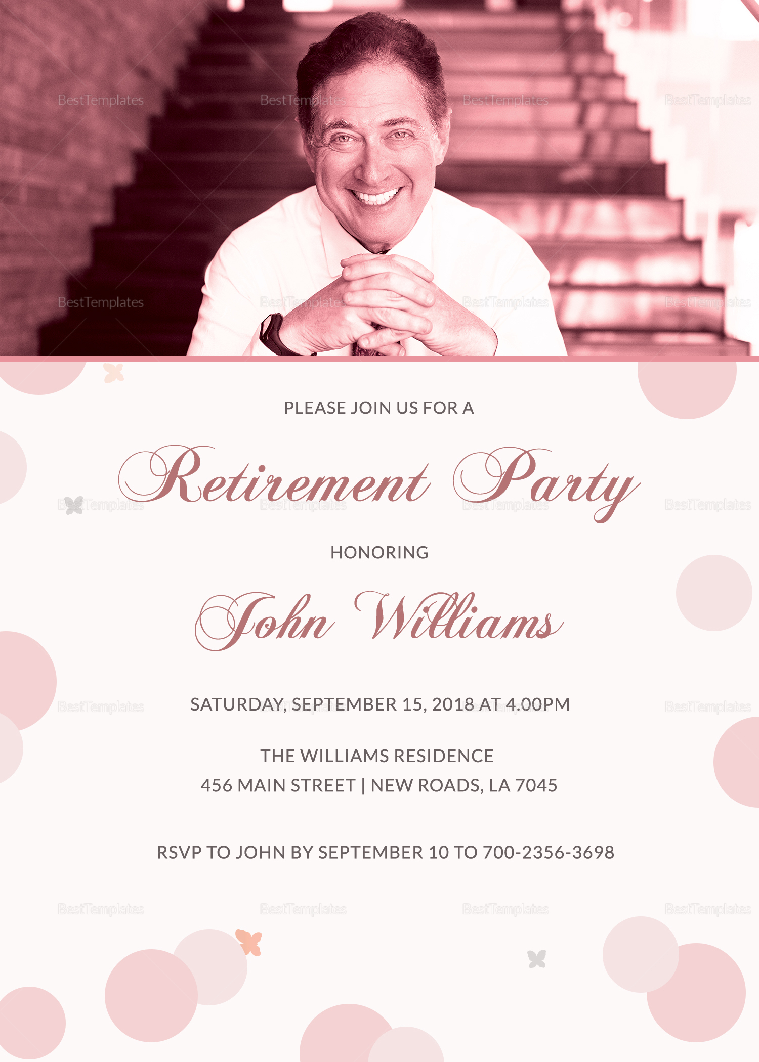 honored retirement party invitation card design template