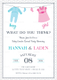 Gender Reveal Baby Shower Invitation Design