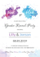 Watercolor Gender Reveal Invitation Party Design
