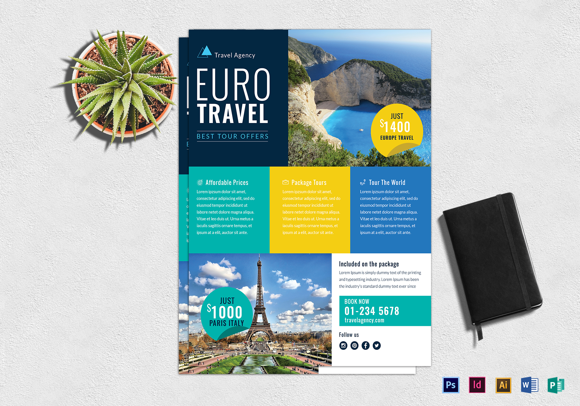 Travel Agency Marketing Flyer Design Template In Psd Word