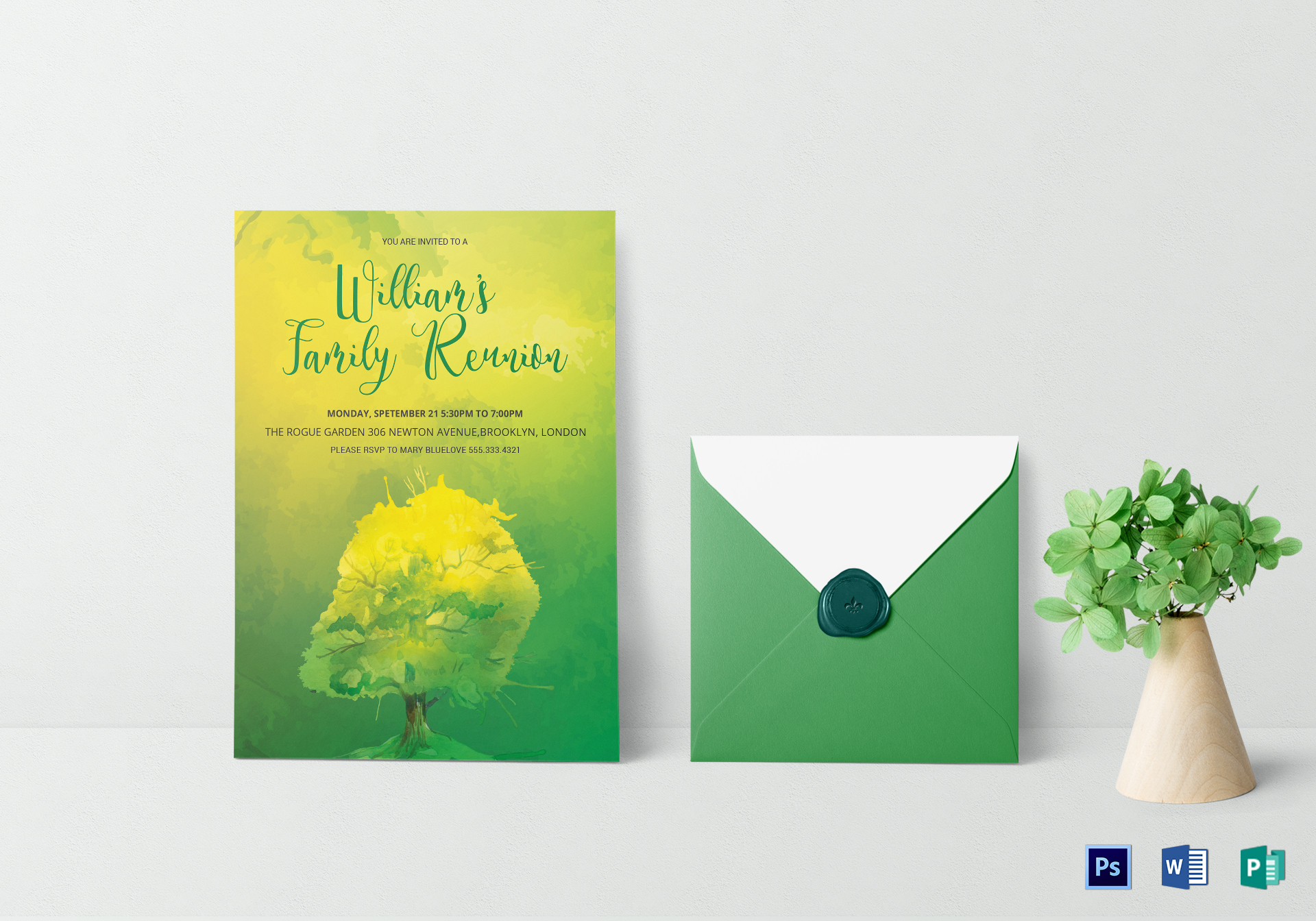 Printable Family Reunion Invitation