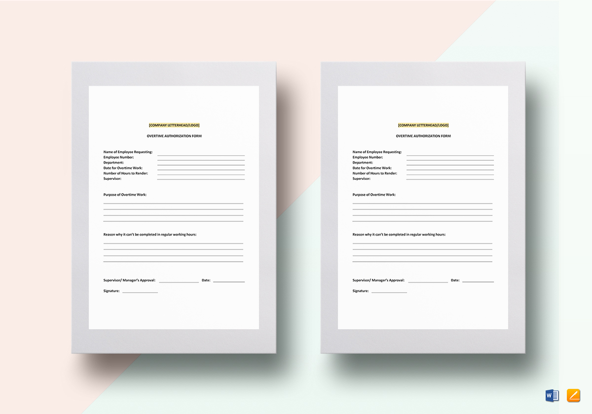 Overtime Authorization Template