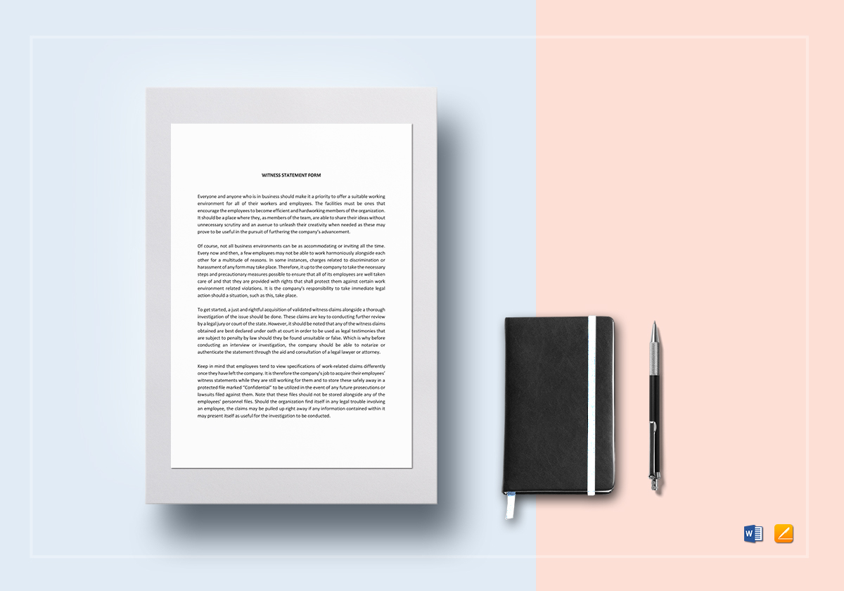 Simple Witness Statement Template