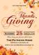 Get Together Thanks Giving Invitation Card Design