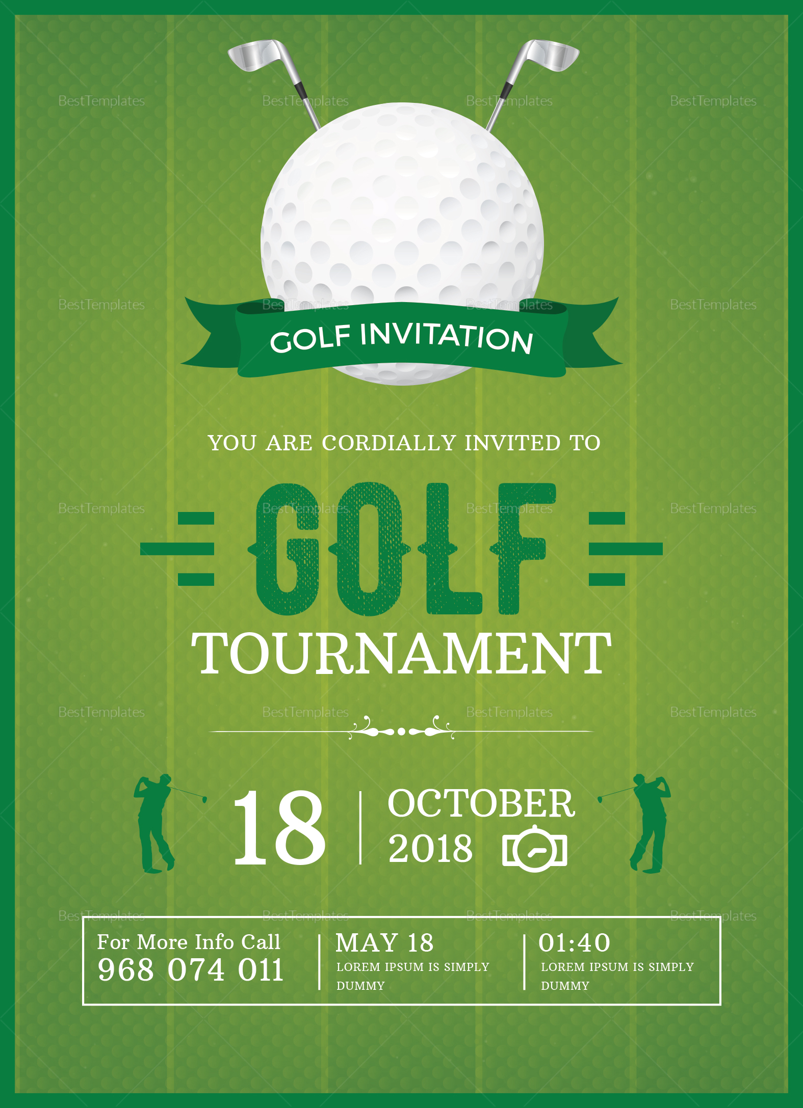 golf invitation design template in word psd publisher