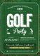 Golf Party Invitation Design