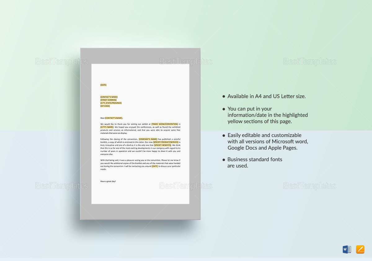 Thanks for Visiting our Exhibit Template