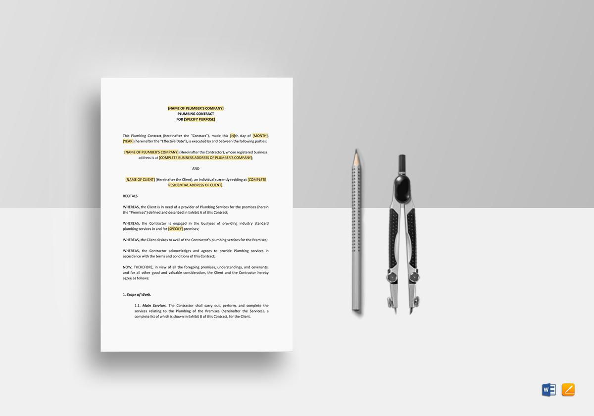 Plumbing Contract