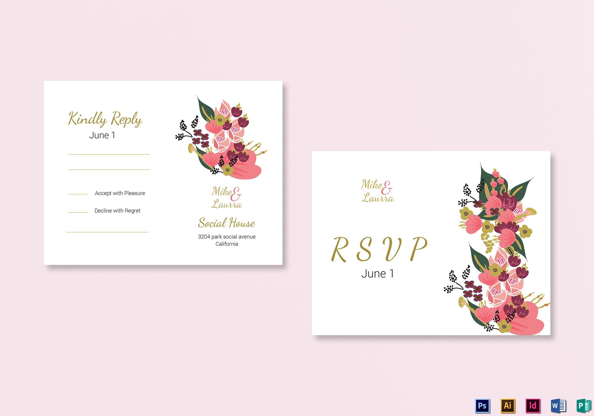 Burgundy Floral RSVP Wedding