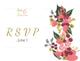 Burgundy Floral RSVP Wedding Card