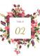Burgundy Floral Table Card Design