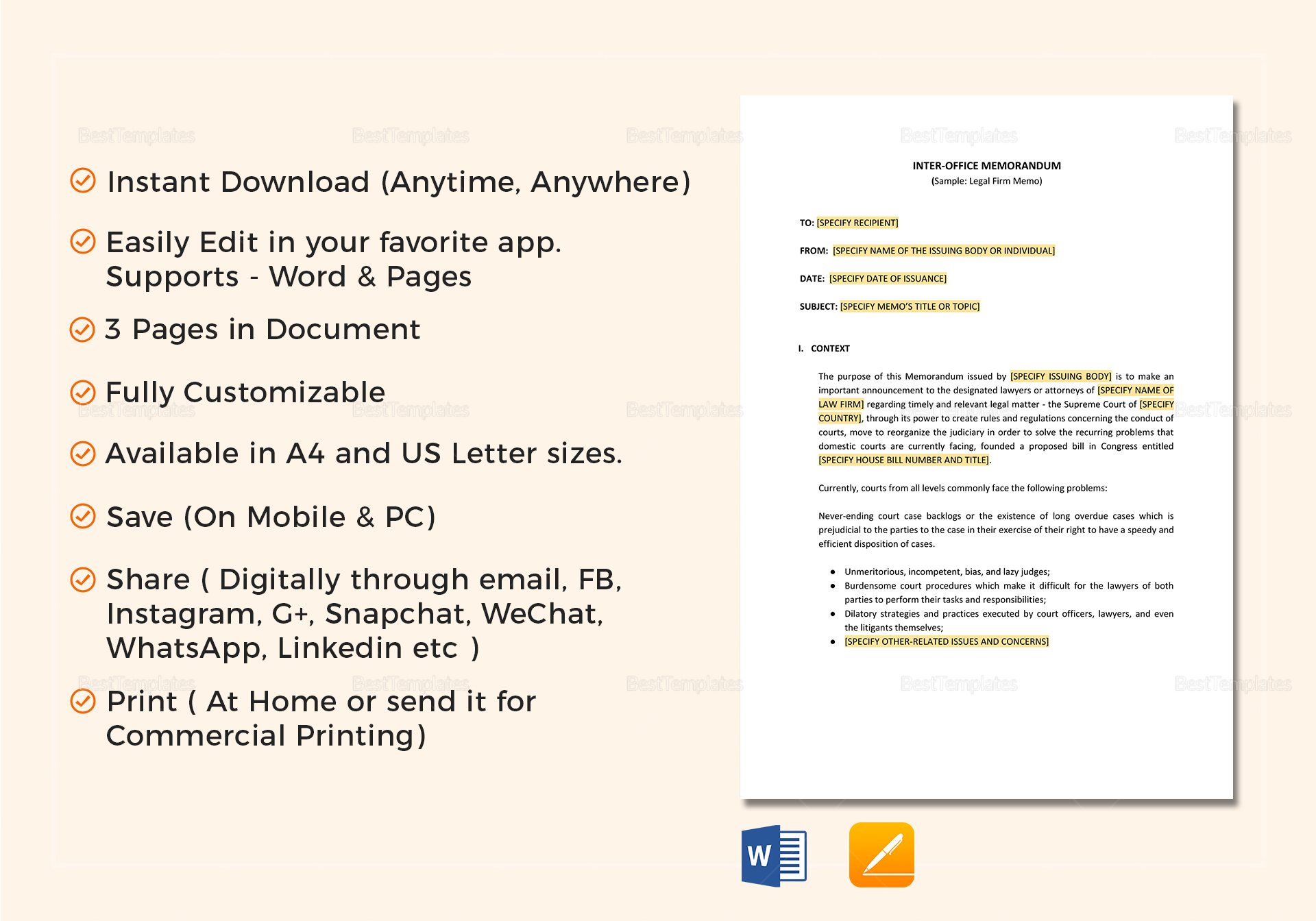 Interoffice memo template in word google docs apple pages interoffice memo interoffice memo altavistaventures Image collections