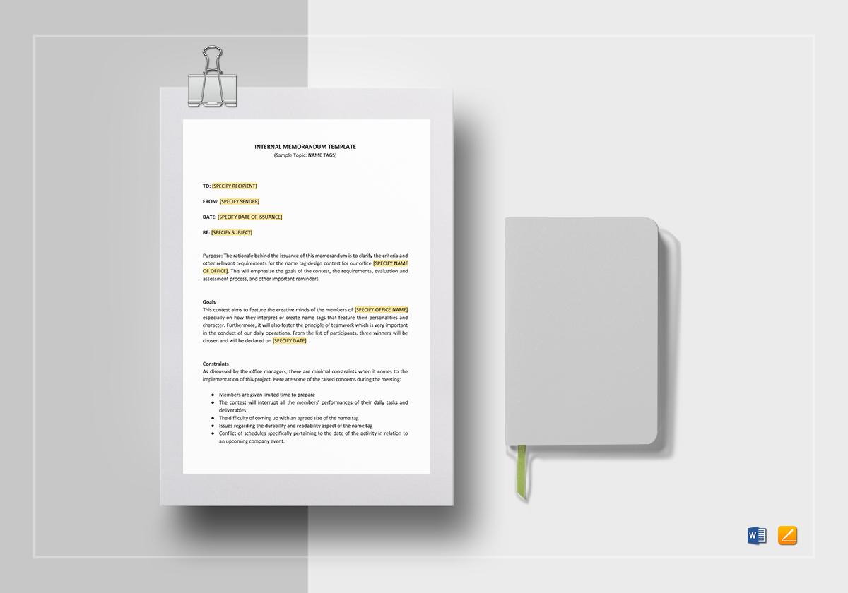 Internal memo template in word google docs apple pages internal memo template thecheapjerseys Images