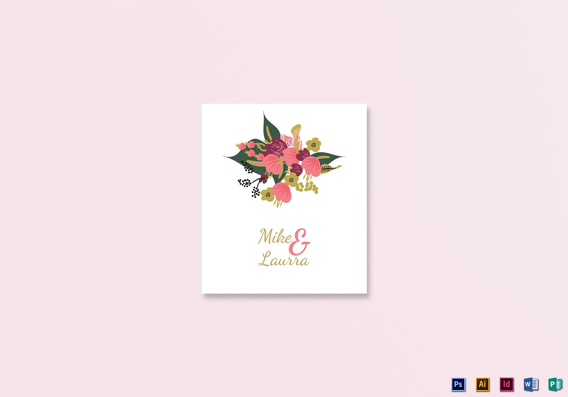 Burgundy Wedding Place Card