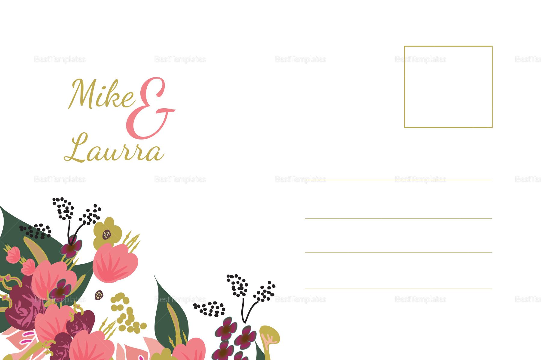 Burgundy Wedding Post Card