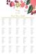 Burgundy Floral Wedding Seating Chart