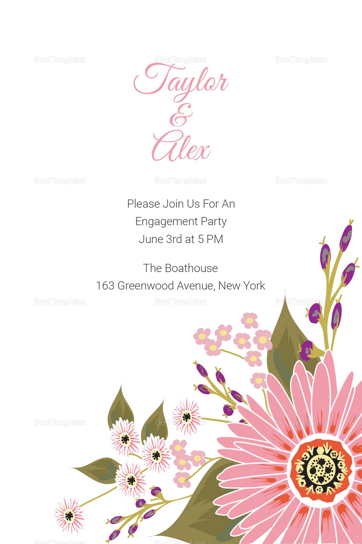 Engagement Announcement Card Design Template