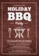 BBQ Party Invitation Design Template