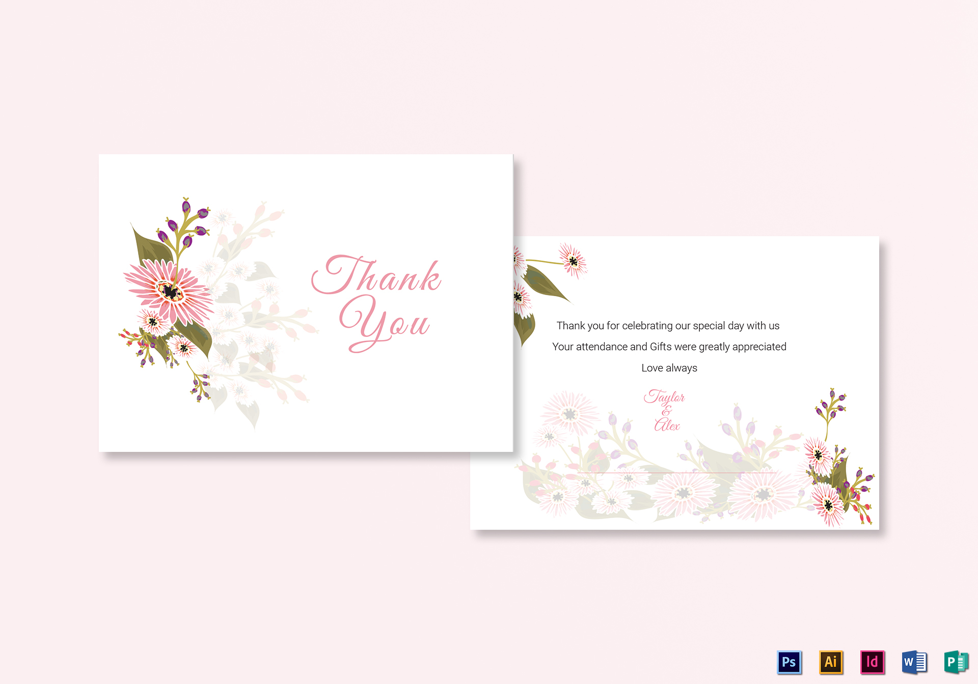 Fl Wedding Thank You Card Design