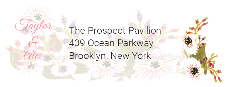 Wedding Address Labels Card Design