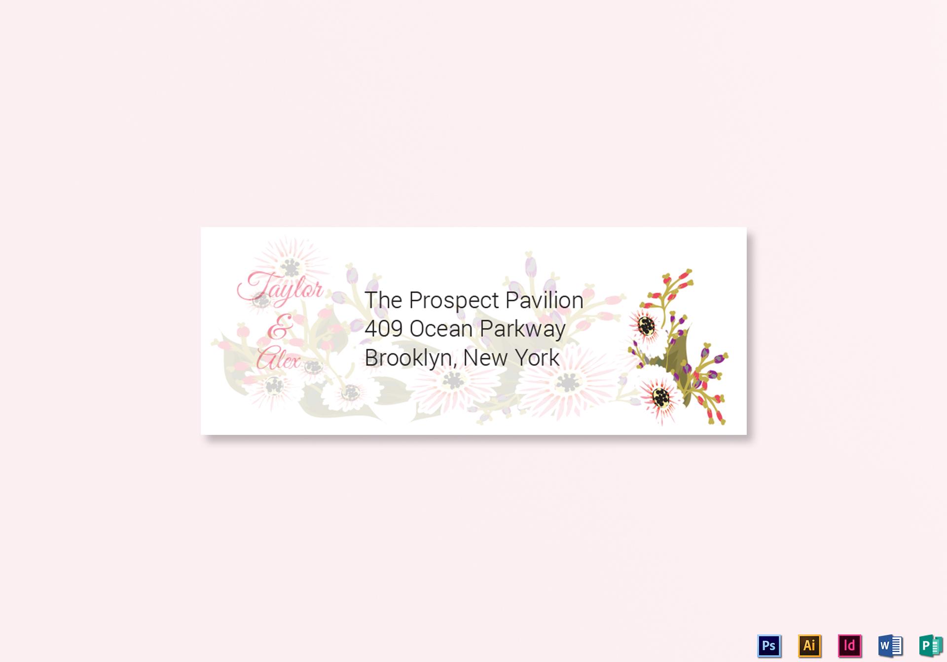 Wedding Address Labels Card Template
