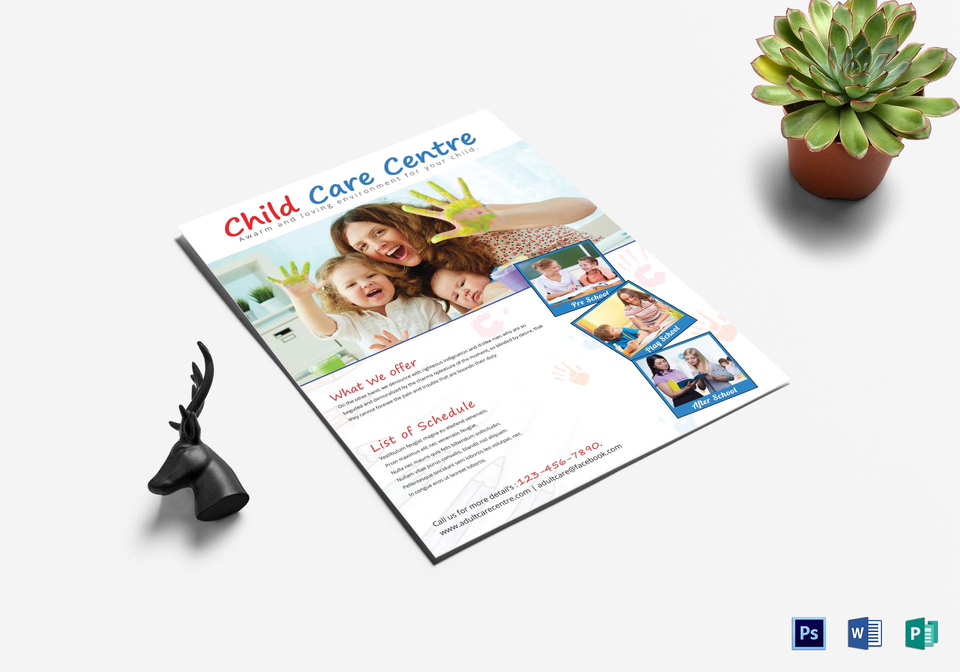 Heartfelt Child Care Centre Flyer Template
