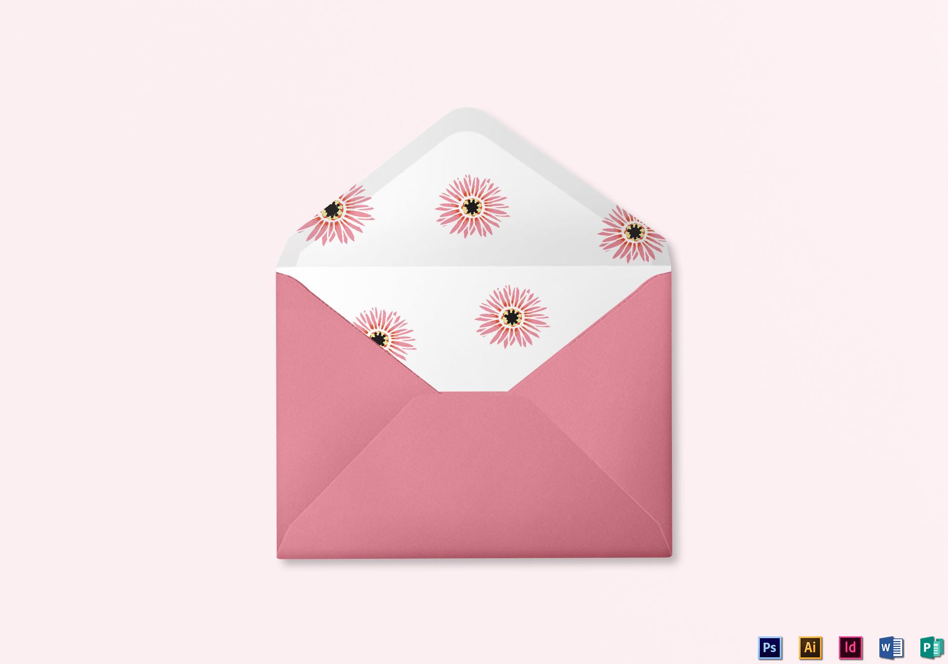 floral wedding envelope design template in illustrator indesign word psd publisher. Black Bedroom Furniture Sets. Home Design Ideas