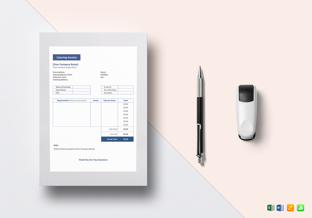 catering invoice template in word excel apple pages numbers