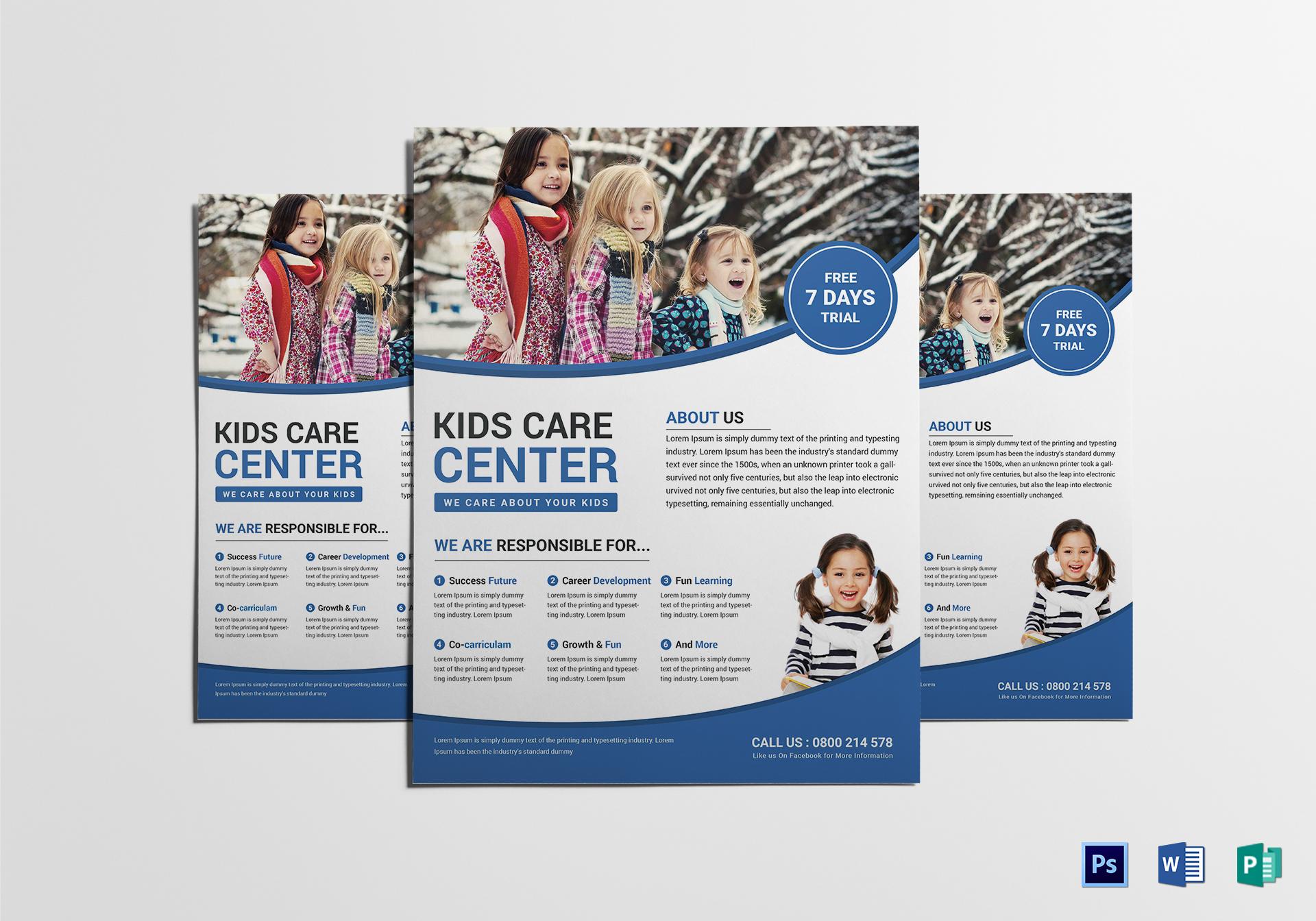 Kind Child Care Flyer Template