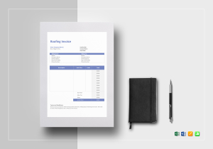 Invoice Templates In Word Excel Apple Pages Numbers Google - Roofing invoice template