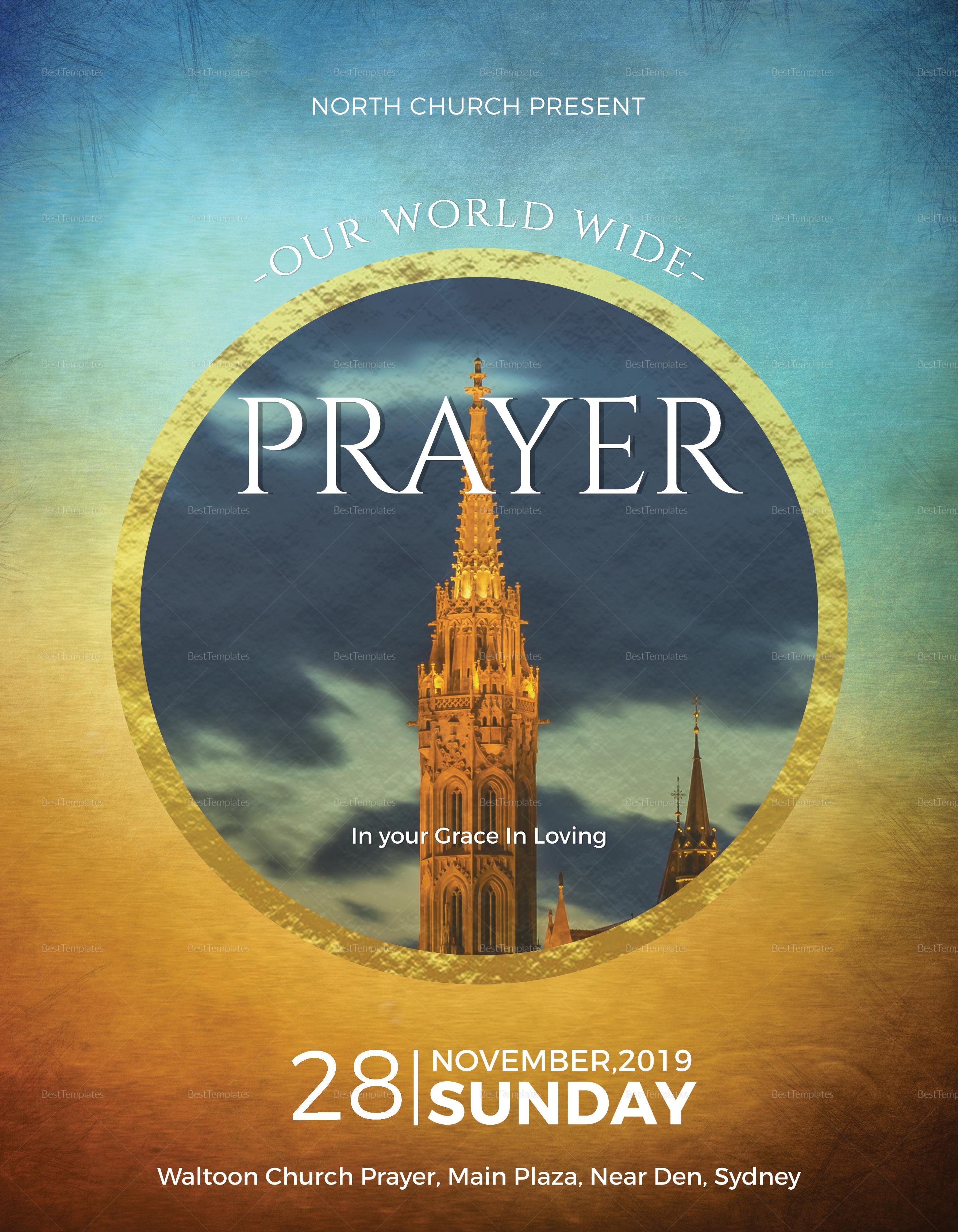 Gospel Church Flyer Design Template In Psd Word Publisher