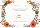 Summer Floral Thank You Card Design Template