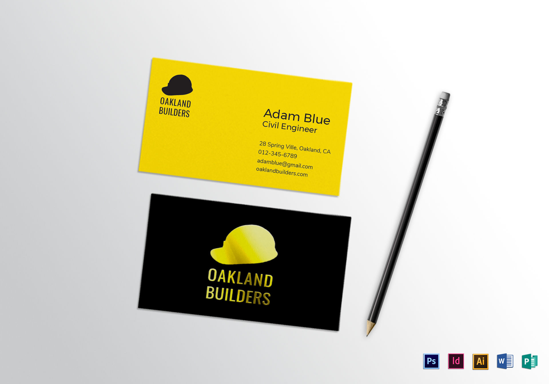Spot uv business card design template in psd word publisher spot uv business card template wajeb Image collections