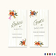 Summer Floral Wedding Bathroom Signs Card Template