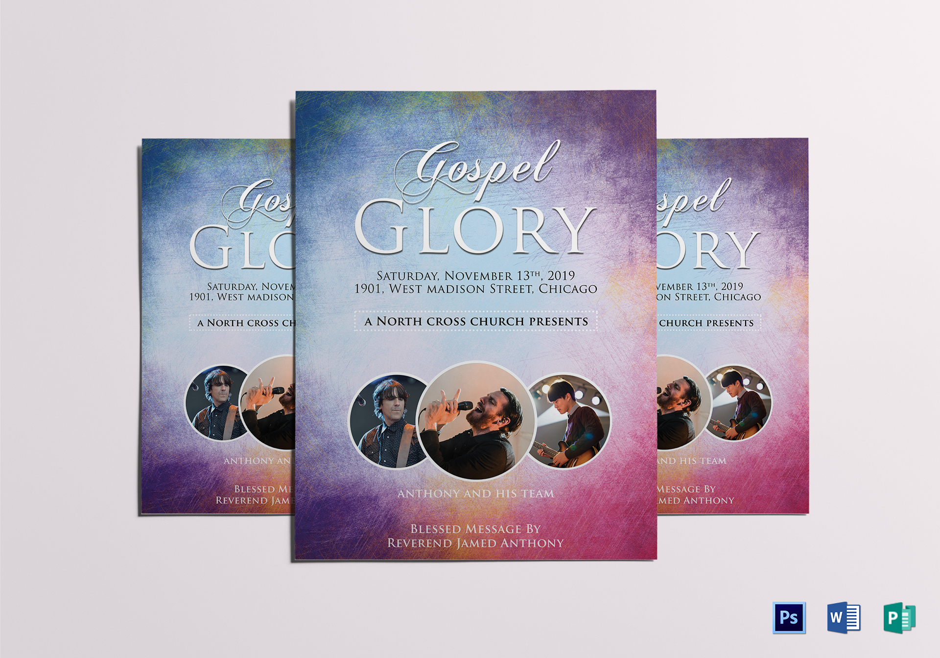 heavenly church flyer template