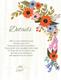 Summer Floral Wedding Details Card Design Template