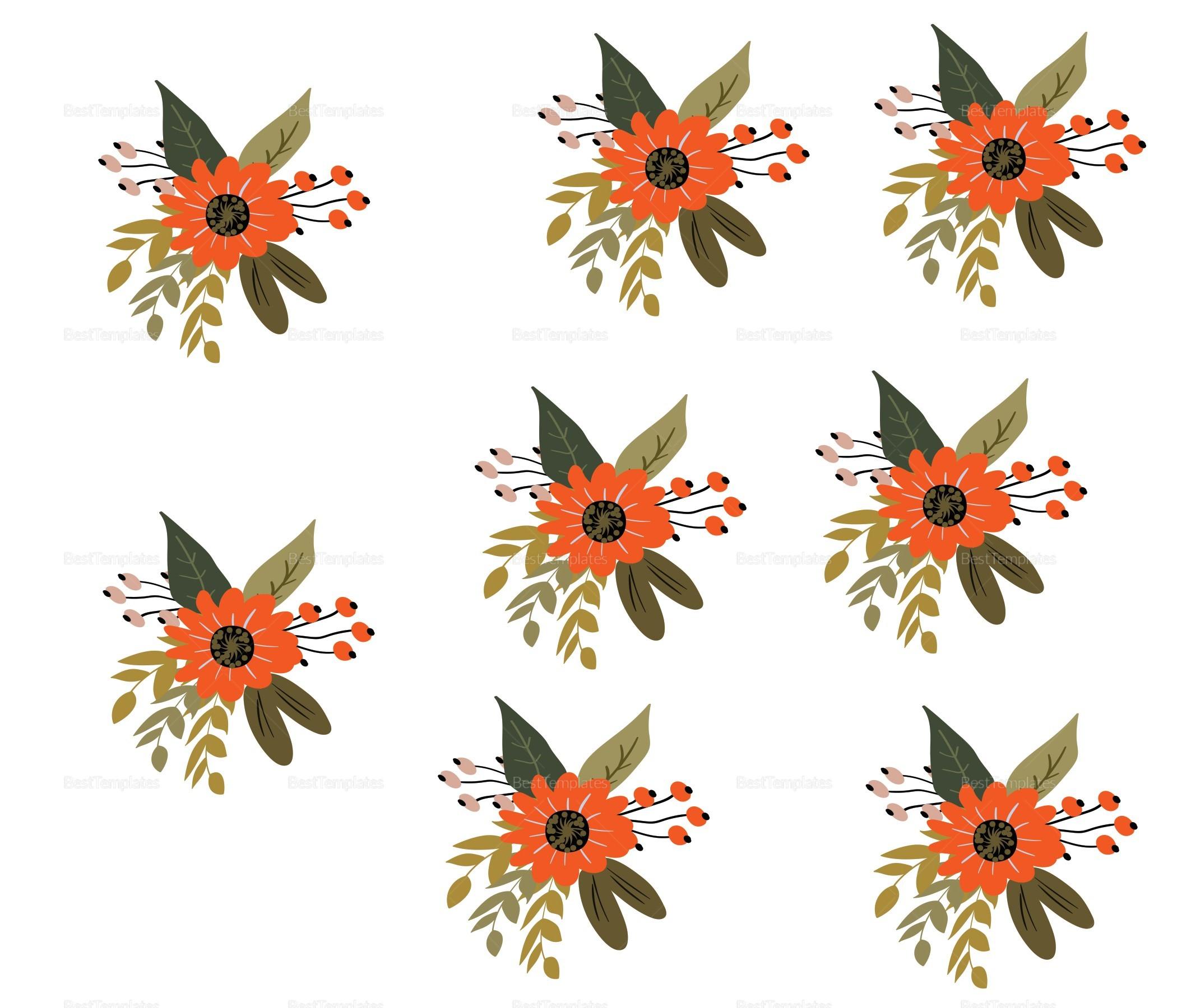 Summer Floral Wedding Envelope Card Template