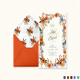 Summer Floral Wedding Invitation Card Template