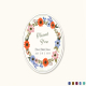 Summer Floral Wedding Label Card Template