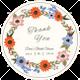 Summer Floral Wedding Label Card Design Template