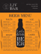 Sample Beer Menu Design Template