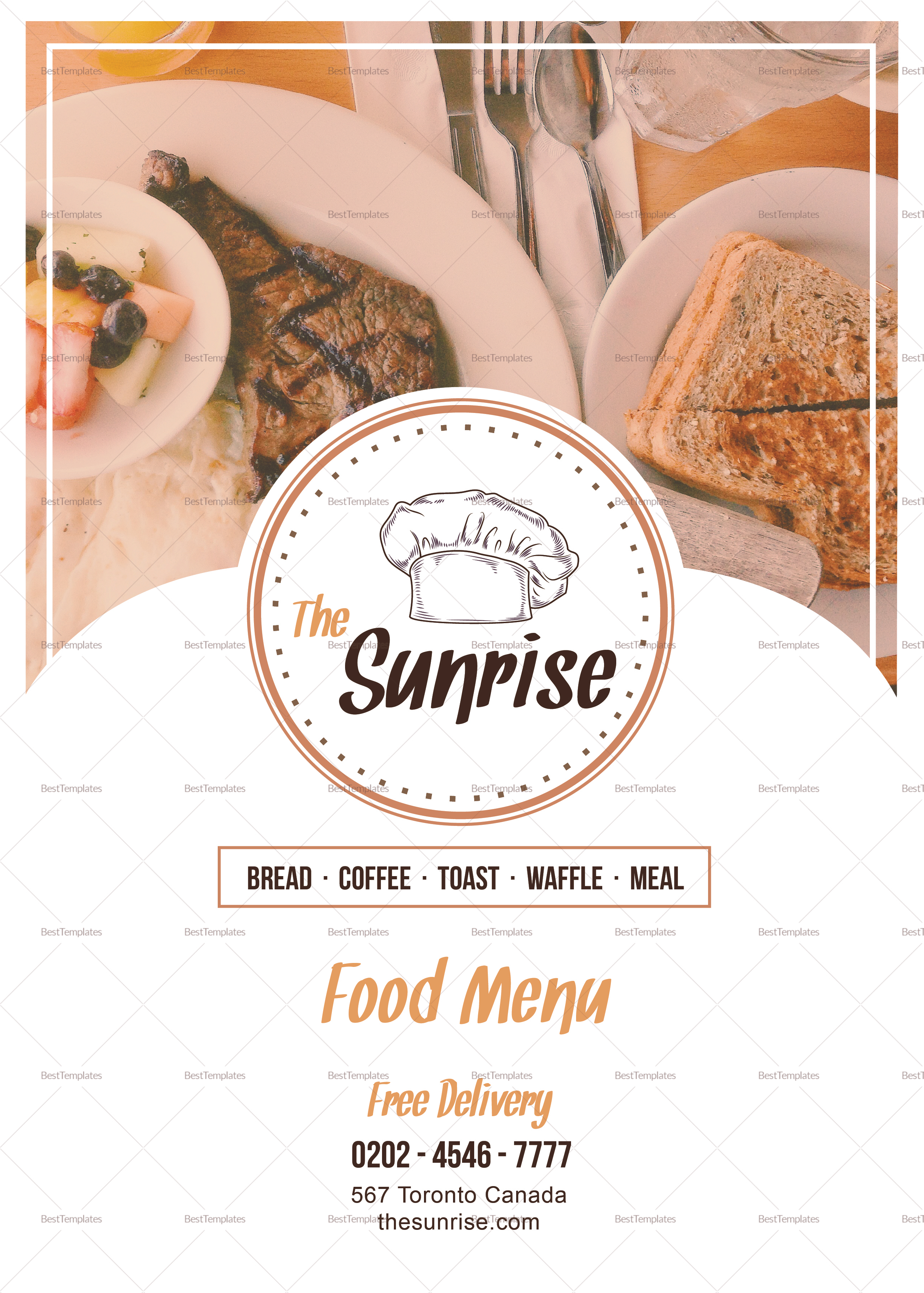 Simple Breakfast Menu Design Template