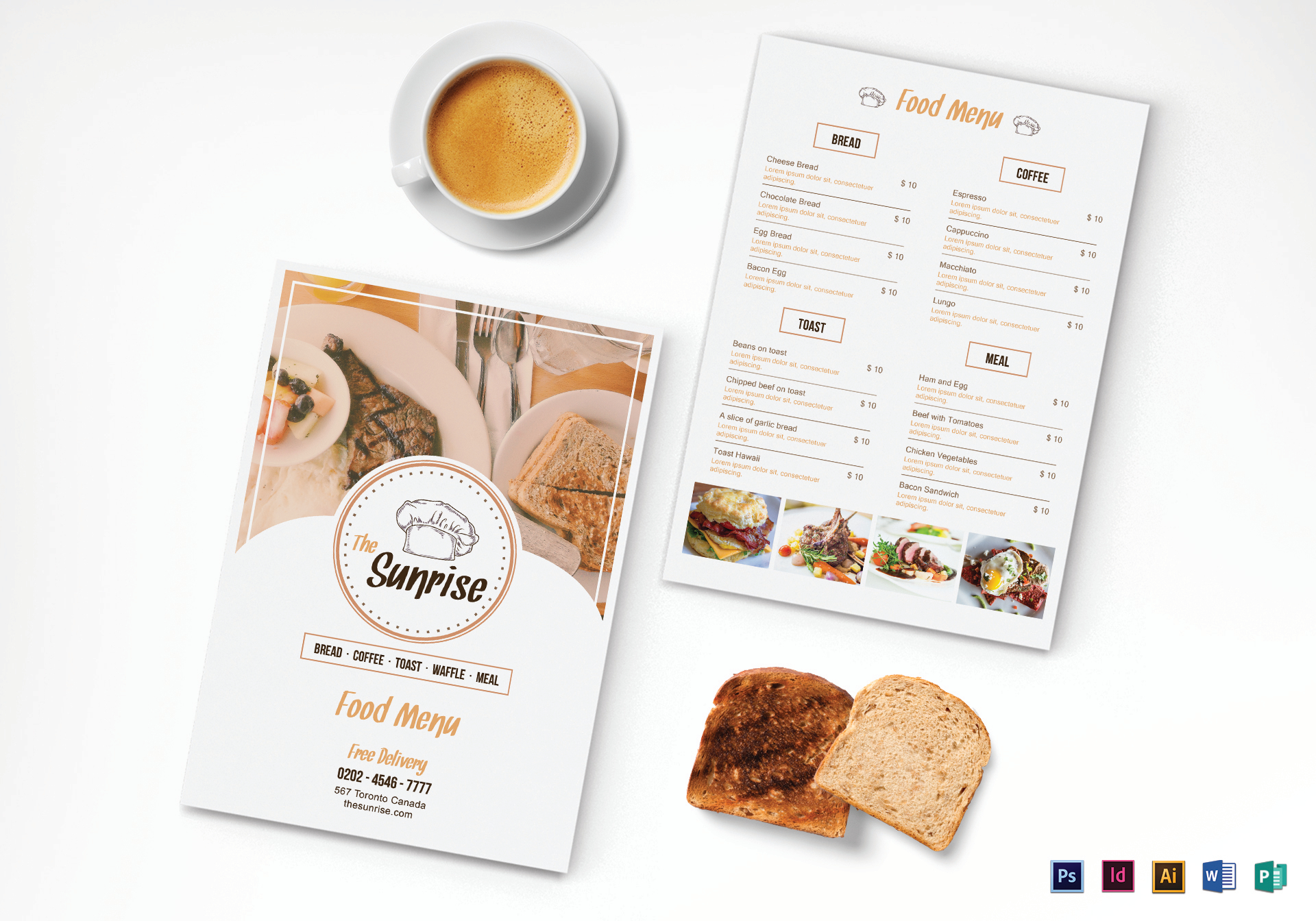 Simple Breakfast Menu Template