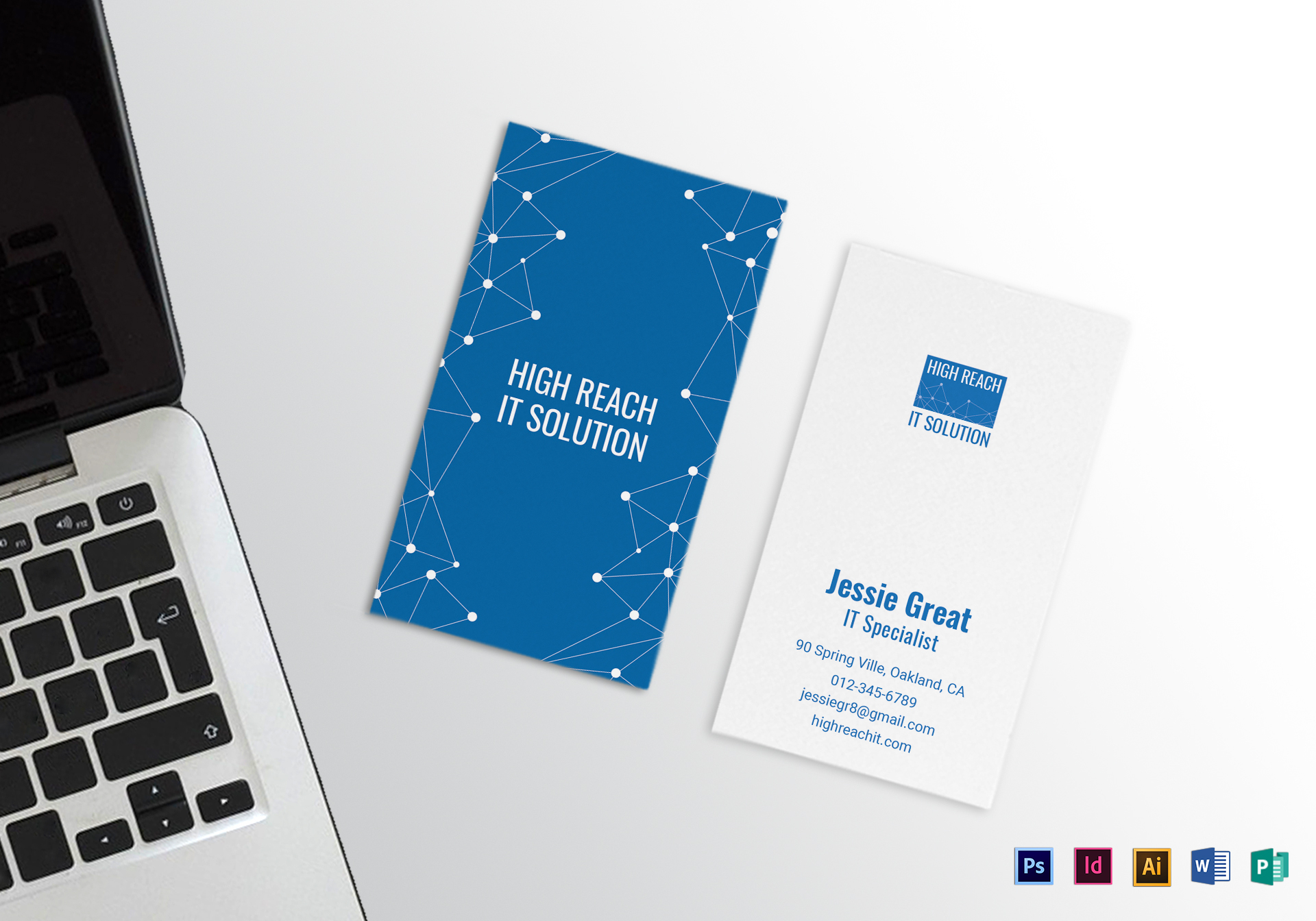Information technology business card design template in psd word information technology business card template cheaphphosting Image collections