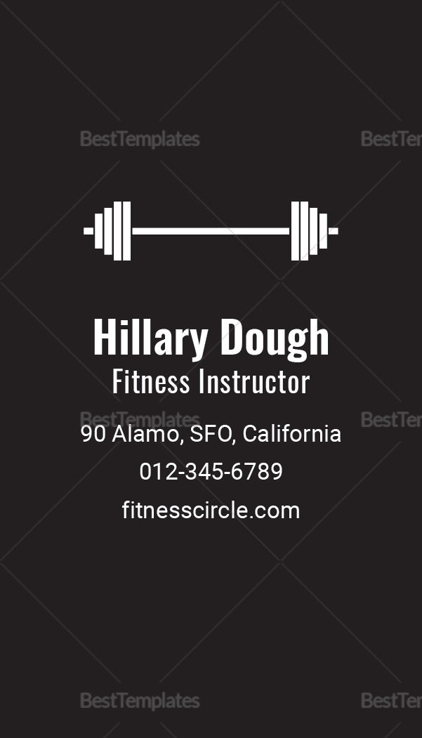 Fitness Business Card Template1